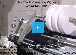 Non Woven Fabric Slitting Rewinding Machine - Krishna Engineering Works