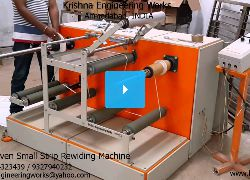 Non Woven Small Strip Rewinding Machine - Krishna Engineering Works